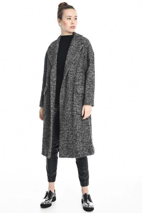 Bouclé wool coat Diffusione Tessile