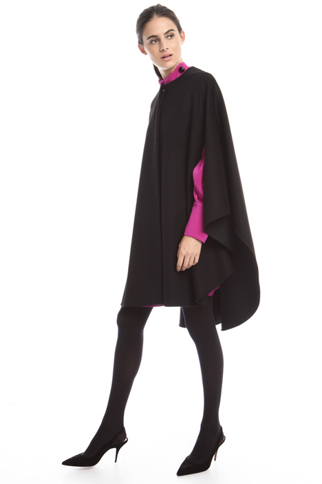 Wool drap cape Intrend