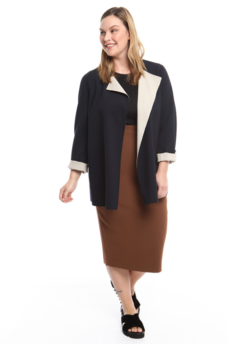 Reversible crepe jacket Diffusione Tessile