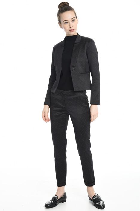 Cotton blend jacquard blazer Diffusione Tessile
