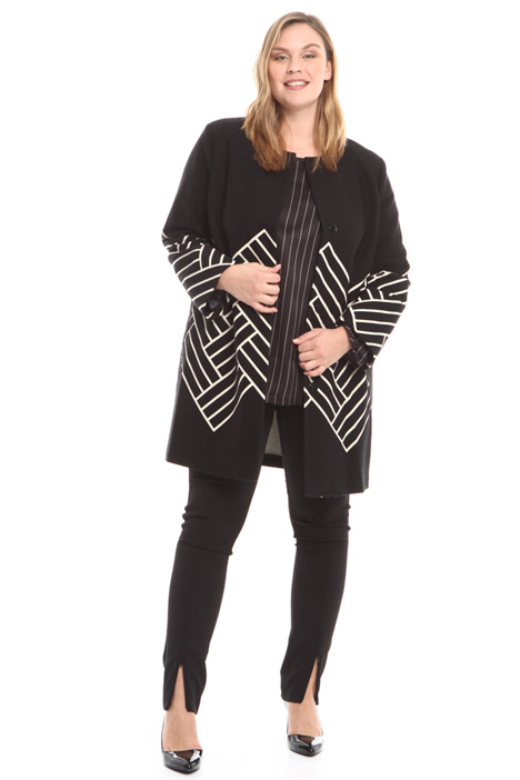 Jacquard duster coat Diffusione Tessile