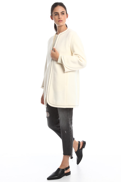 Double layer pure wool coat Diffusione Tessile