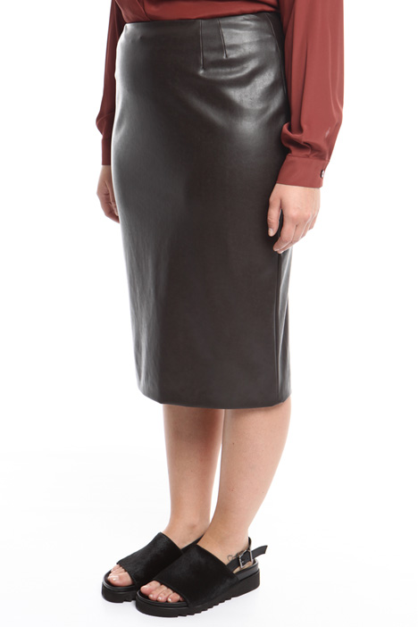 Stretch nappa pencil skirt Diffusione Tessile