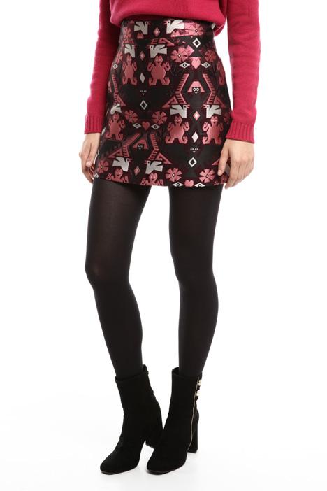 Lurex jacquard short skirt Diffusione Tessile
