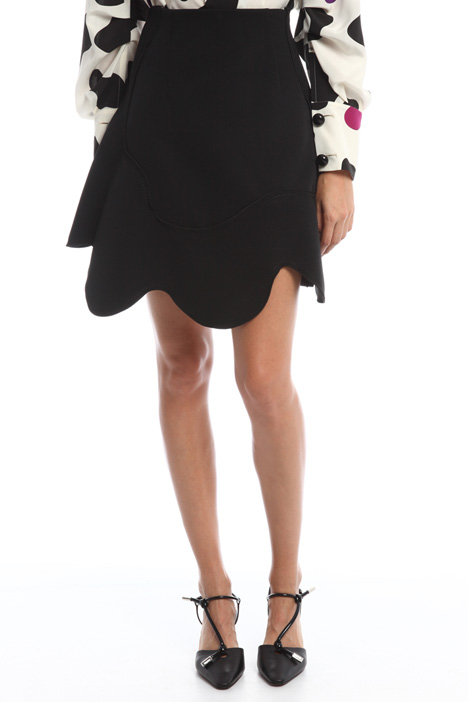 Skirt with wavy hem Diffusione Tessile