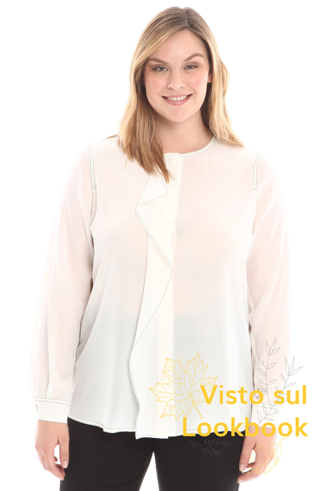 Ruffled silk shirt Intrend