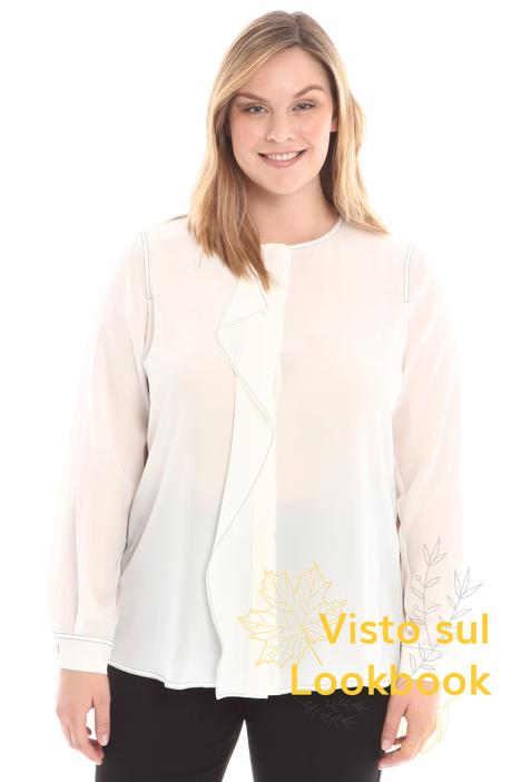 Camicia in seta con ruches  Diffusione Tessile