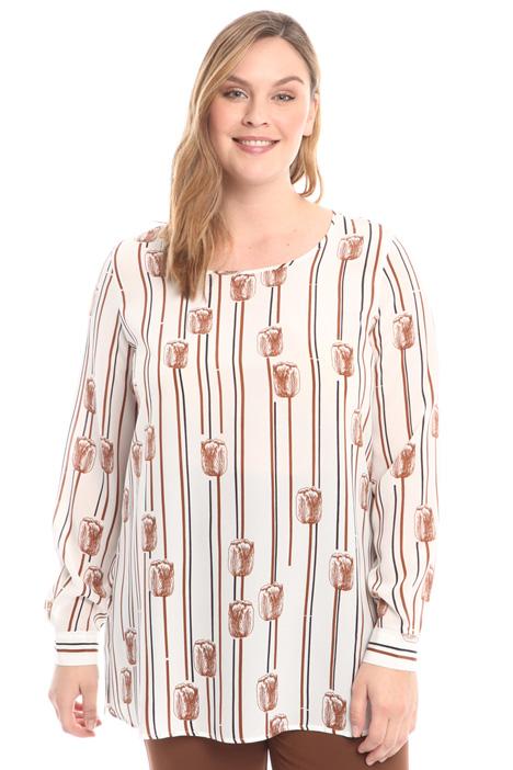 Floral motif shirt Intrend