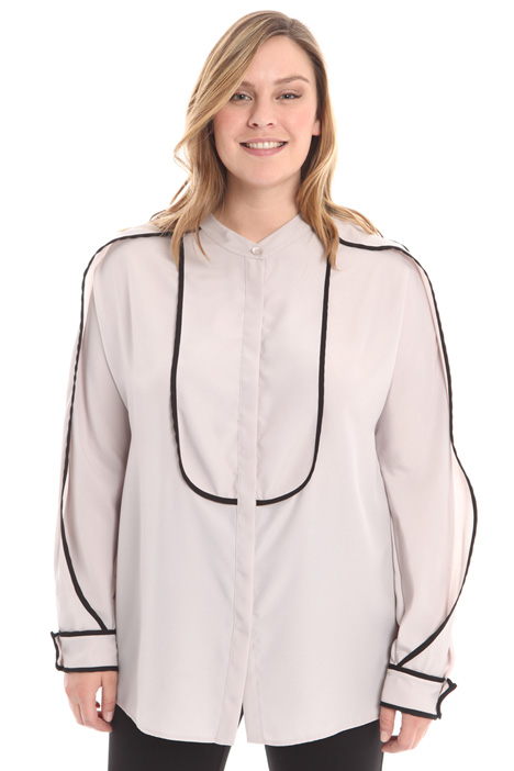 Camicia con profili contrasto Diffusione Tessile