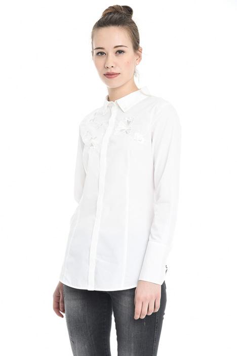 Camicia in cotone con ricamo Diffusione Tessile