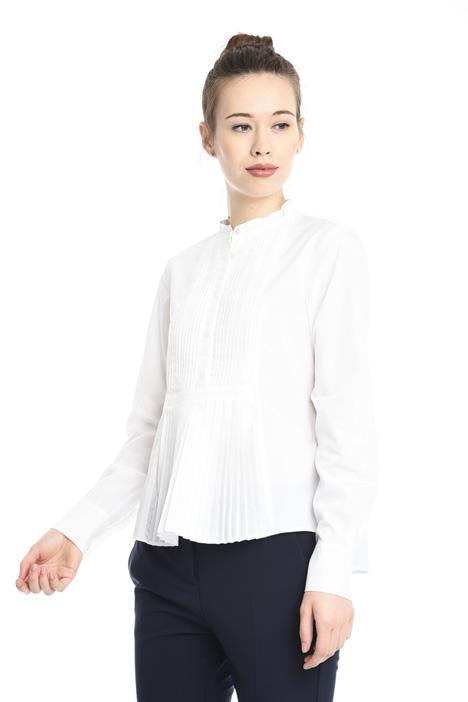 Plissé detail blouse Diffusione Tessile