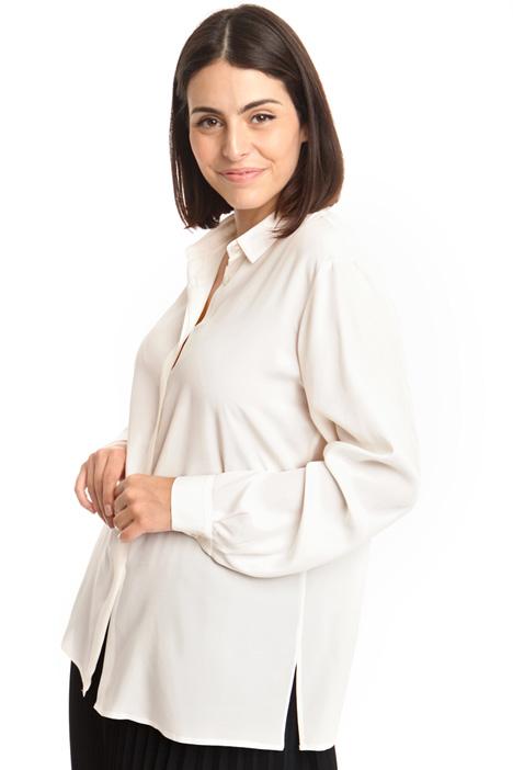 Camicia in tessuto crepe Diffusione Tessile