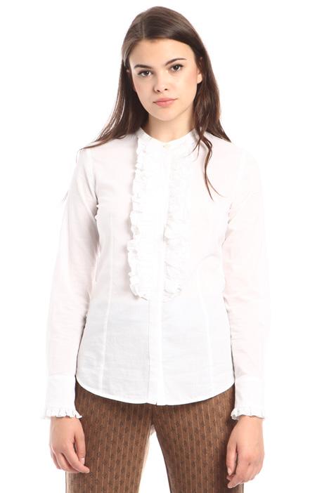 Camicia con maxi ruches Diffusione Tessile