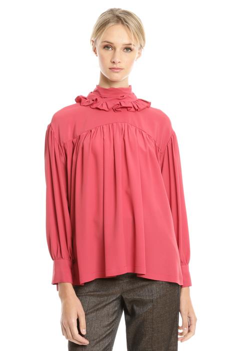 Blusa over con collo alto Diffusione Tessile