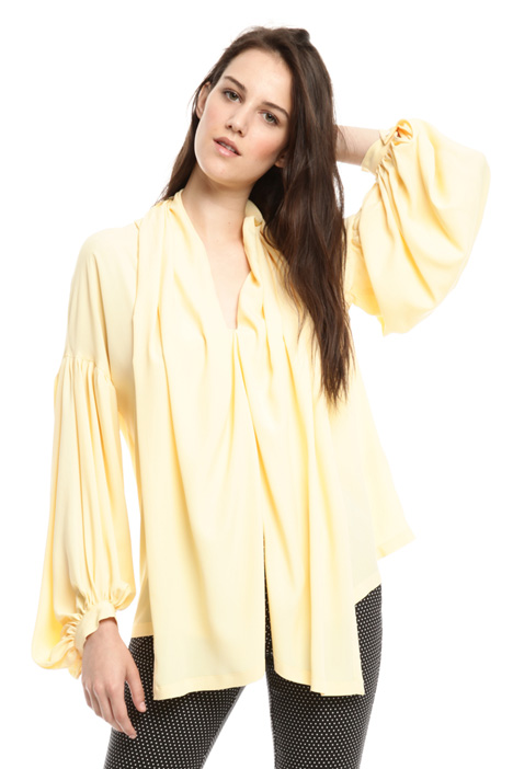 Oversized silk crepe blouse Intrend
