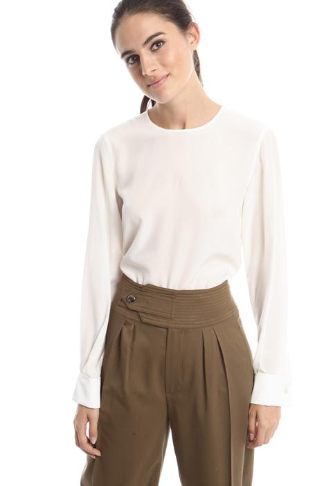 Blusa in crepe di seta Diffusione Tessile