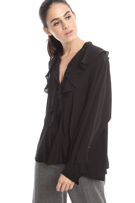 Silk shirt with boules Intrend