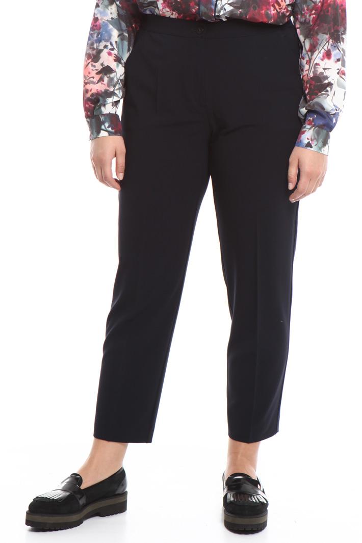 Pantalone in crepe di lana Diffusione Tessile