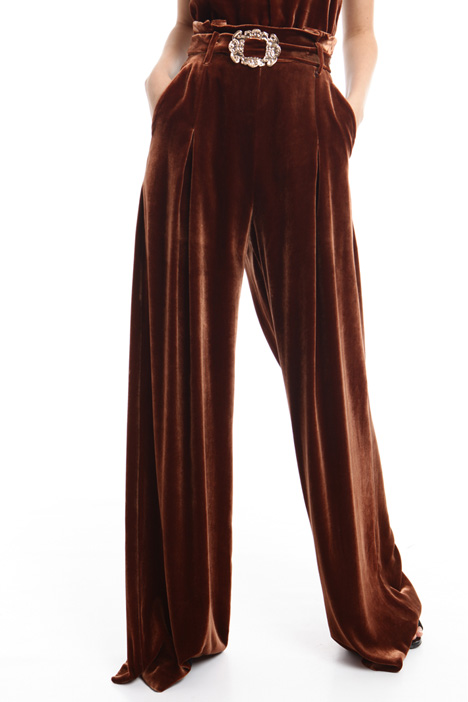 Velvet palazzo trousers Diffusione Tessile