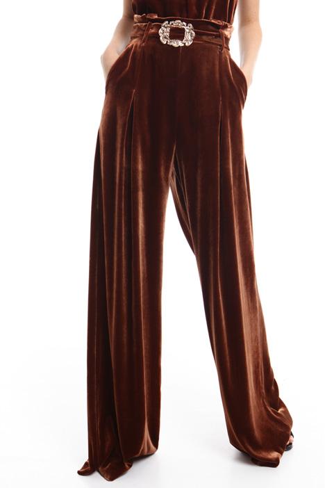 Pantalone palazzo in velluto Diffusione Tessile