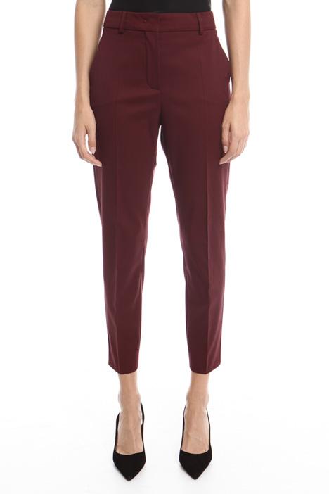 Pantaloni in gabardina di lana Diffusione Tessile