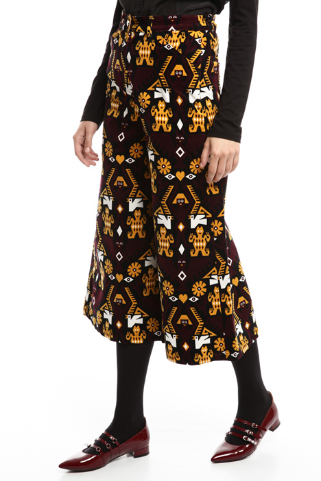 Pantaloni in velluto fantasia Diffusione Tessile