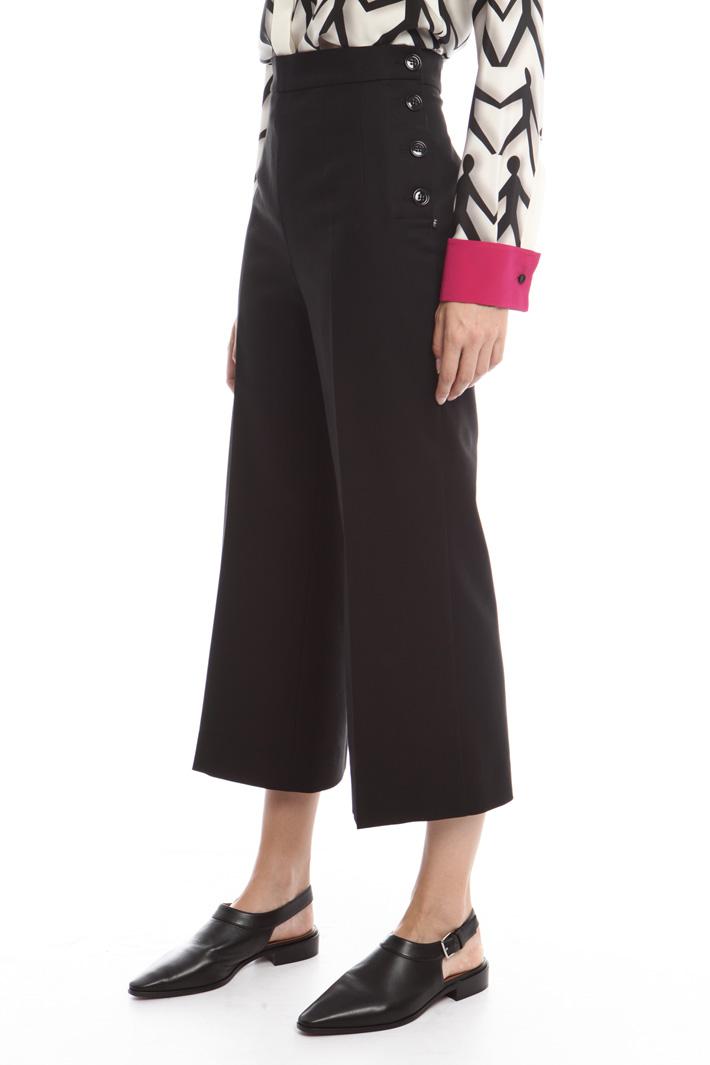 Pantaloni con bottoni Diffusione Tessile