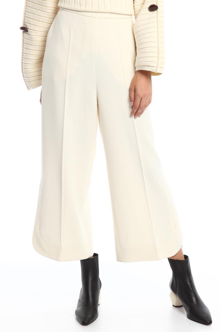 Pantaloni in cady doppio Diffusione Tessile