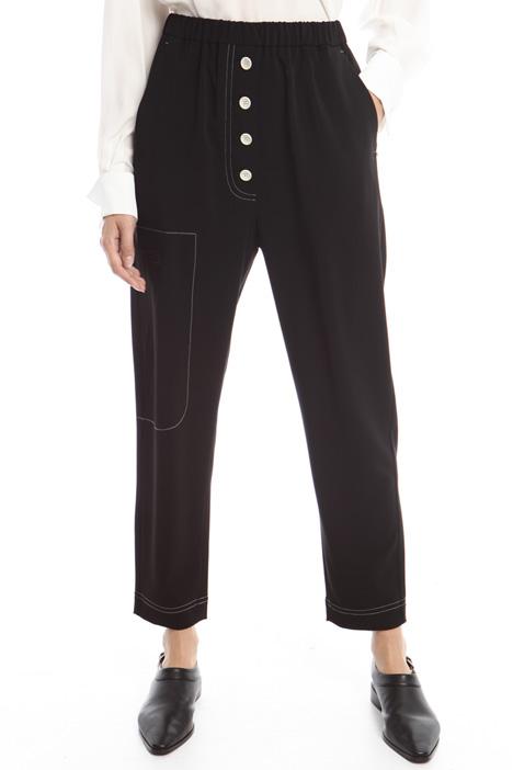 Pantaloni a carota con bottoni Diffusione Tessile
