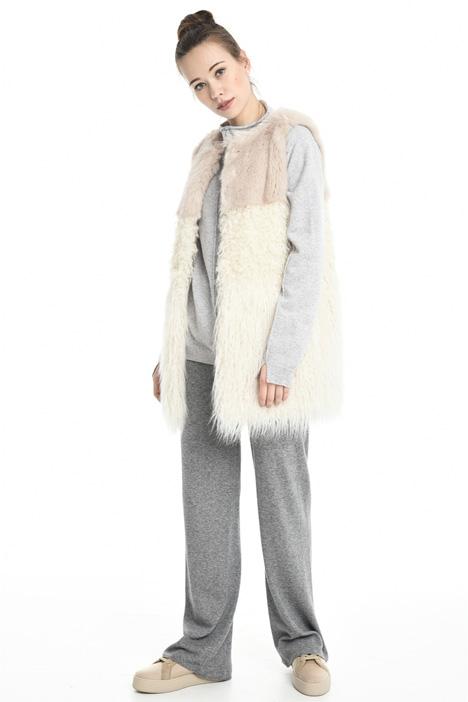 Fur-effect vest Diffusione Tessile