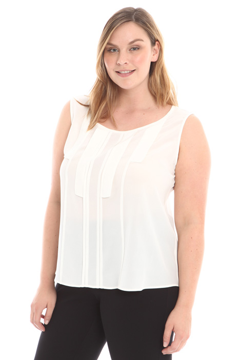 Pleated silk top Intrend