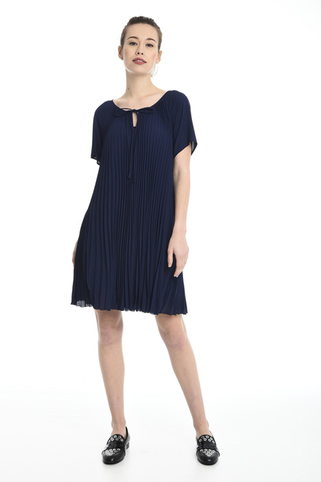Pleated georgette dress Diffusione Tessile