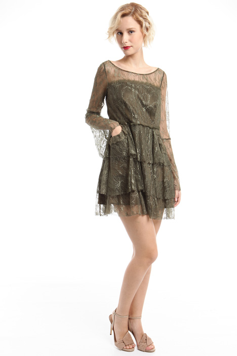 Flounced lace dress Diffusione Tessile