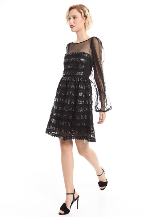 Flounced princesse-line dress Diffusione Tessile