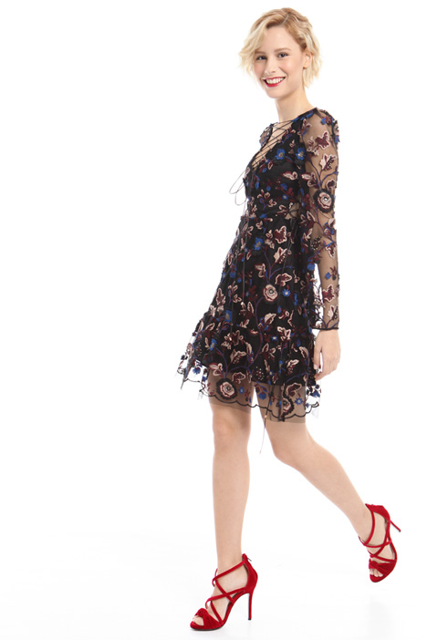 Dress with floral embroidery  Diffusione Tessile