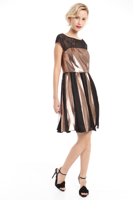 Dress in laminated velvet Intrend