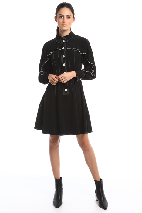 Shirt dress with ruffles Diffusione Tessile