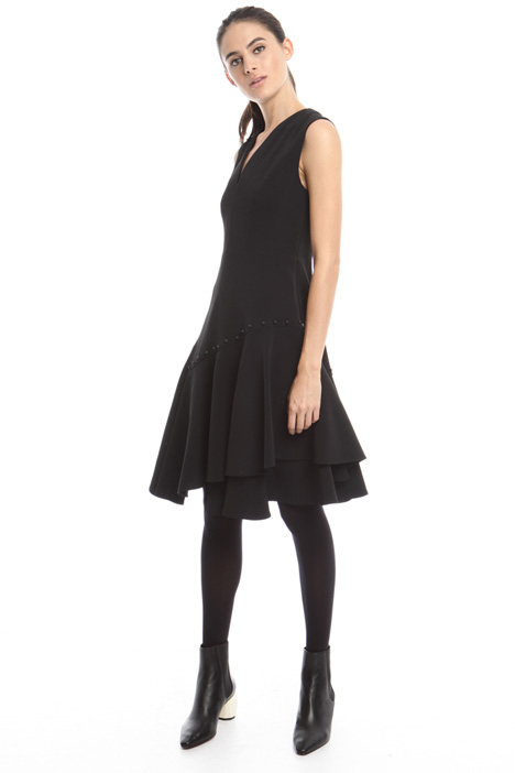 Asymmetrical dress with frills  Diffusione Tessile