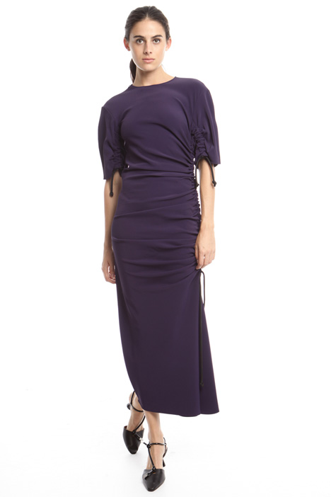 Long fitted twill dress Diffusione Tessile