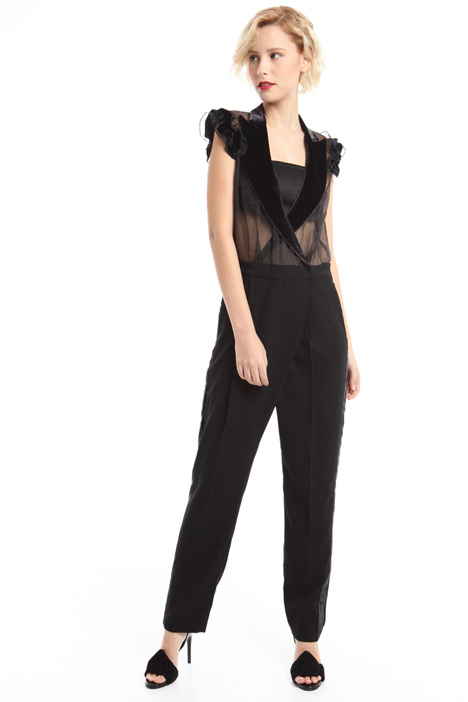 Crepe and organza jumpsuit  Diffusione Tessile