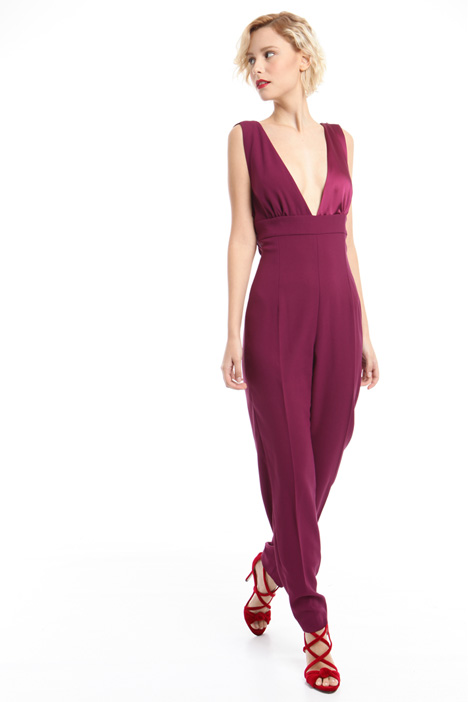 Jumpsuit with wide neckline Diffusione Tessile