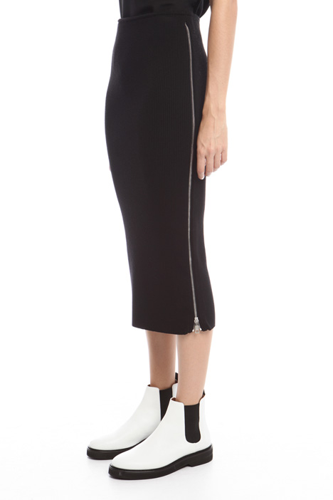 Knitted skirt with zip Diffusione Tessile