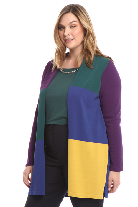 Color-block cardigan Diffusione Tessile