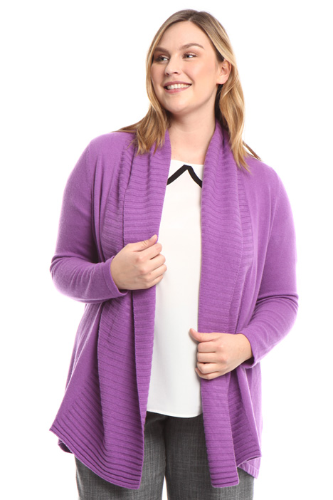 Ribbed collar cardigan Intrend