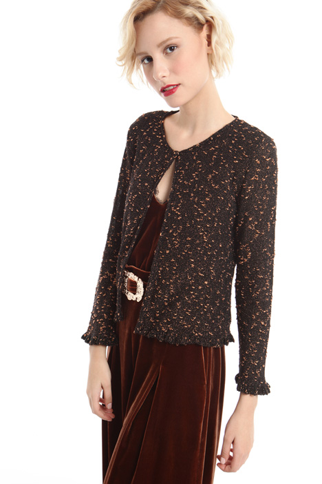 Cardigan in lana lurex Diffusione Tessile