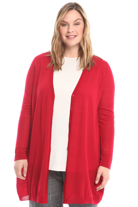 Oversized fine wool cardigan Diffusione Tessile