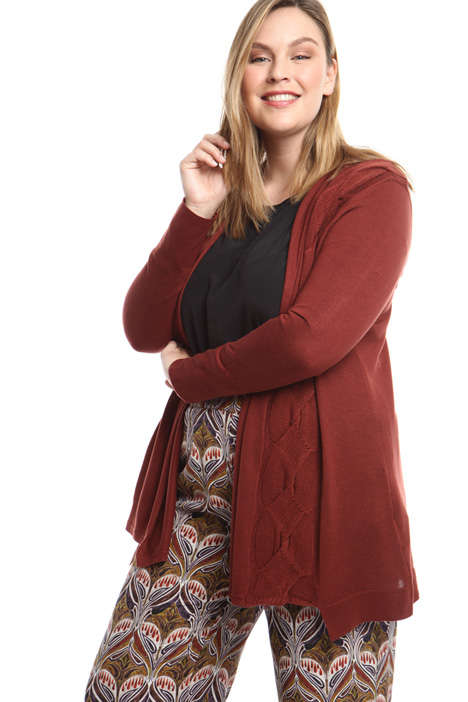 Knitted braided cardigan Diffusione Tessile