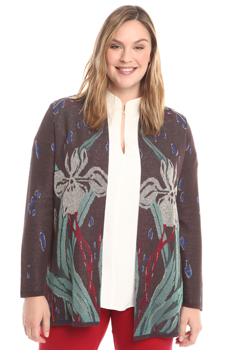 Cardigan with jacquard motif Intrend