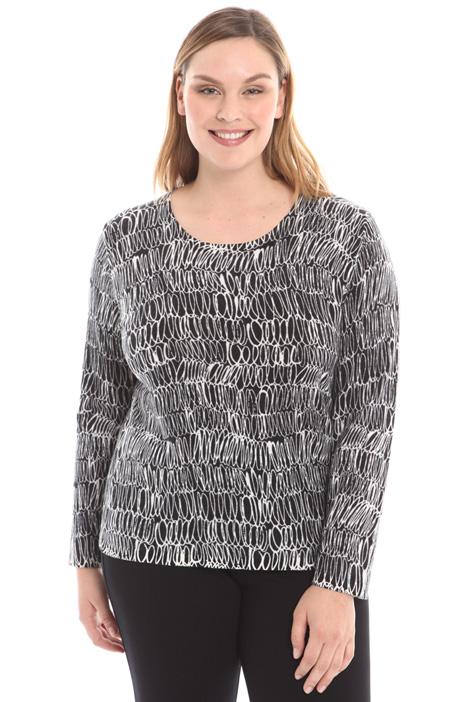 Maglia in lana stampata Diffusione Tessile