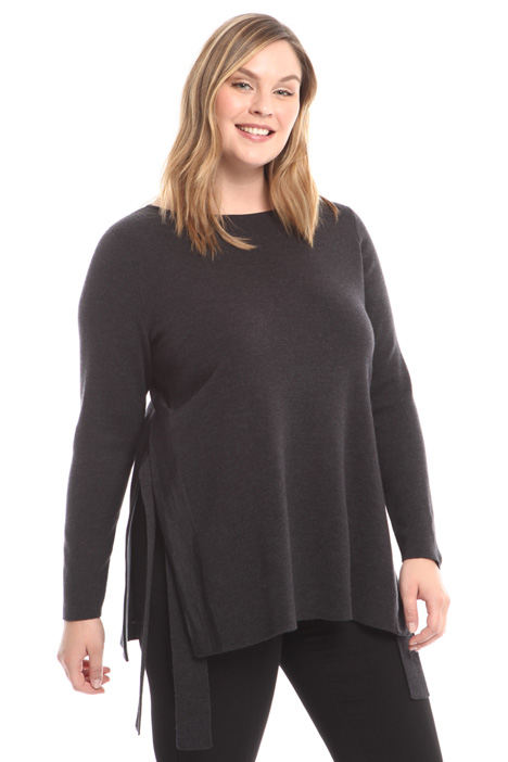 Wool sweater with side slits Intrend
